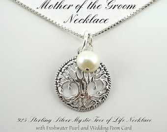 Mother of the Groom Gift, Mother of the Bride Gift, Mother in law Gift, Wedding Gift, Sterling Silver, Mother of the groom necklace