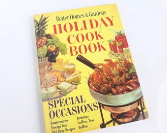 Better Homes and Gardens Holiday Cook Book Sixth Printing 1967 Special Occasions
