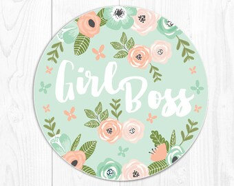 Mouse Pad Mousepad Boss Gift for Boss Coworker Gift for Coworker Mouse Mat Mint Office Supplies Office Desk Accessories Girl Boss