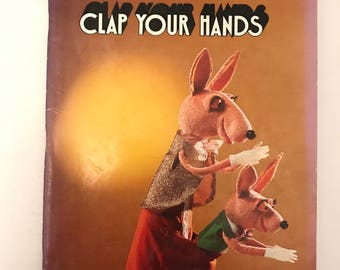Vintage Clap Your Hands Children's Story Book