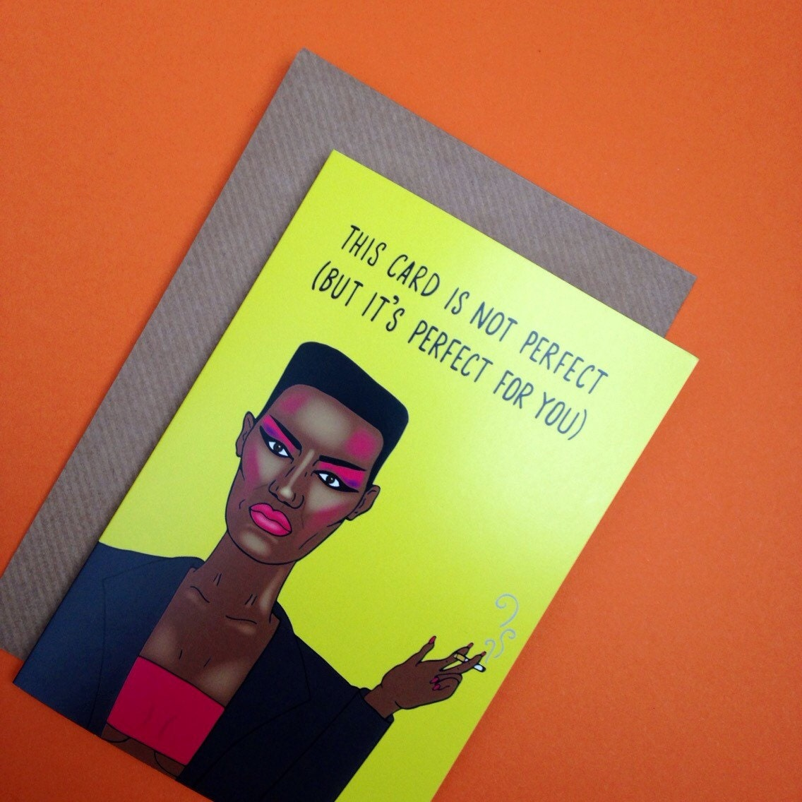 Grace jones inspired greetings card from full colour original grace jones inspired greetings card from full colour original illustration music puns humour birthday christmas valentine blank inside 80s kristyandbryce Images