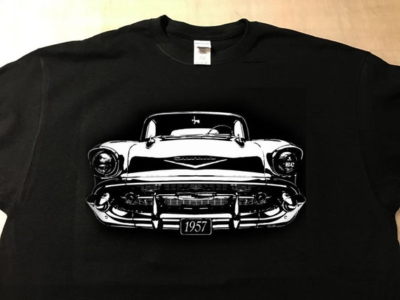 Embroidered 57 Chevy T-Shirt GYA2Z