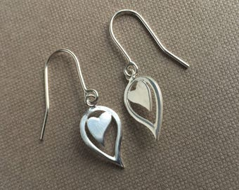 Angel Heart Wing Drop Earrings