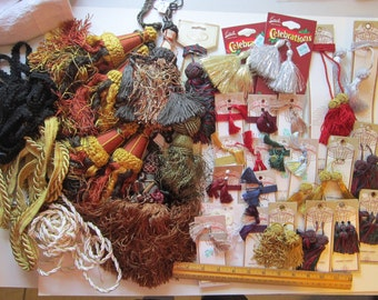 large TASSELS assortment and tassel making kit - home decor tassels, large tassel, small tassels, Tassel Elegance