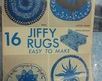 16 Jiffy Rugs Easy to Make-- booklet