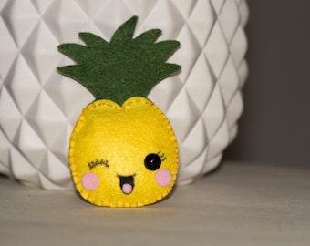 Mini pineapple plush felt