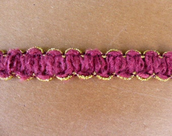 Burgundy and Gold Trim