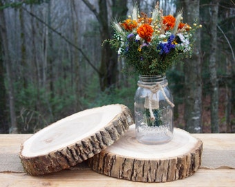Rustic cake stand large wood slice natural wood slice 2 wood wedding centerpieces natural wood slices tree cake stands perfect for rustic junglespirit Image collections