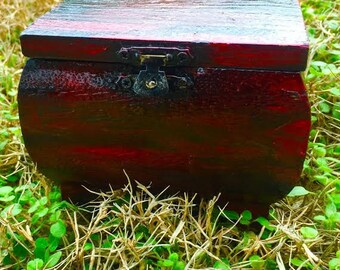 The Afterglow - Hand Painted Wooden Jewelry Box Keepsake Box