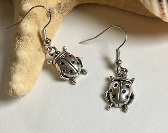Ladybug Earrings - Handmade - Jewelry - Gifts for Her - Ready to Ship