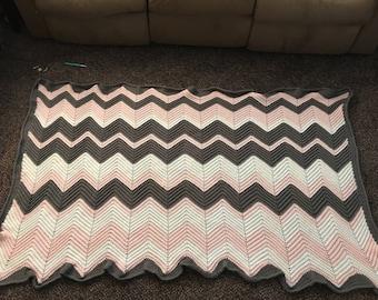 Homemade Chevron Blanket