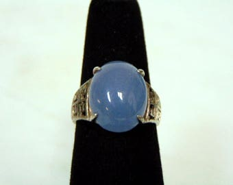 Womens Vintage Estate Sterling Silver Ring w/ Amethyst Colored Stone 5.0g E3076