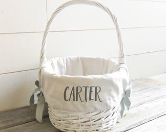 Personalized Easter Basket Liner Easter Basket Liner Easter Gift Basket