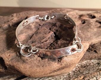 Large Sterling Link Bracelet