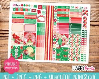 Christmas Printable Planner Stickers.