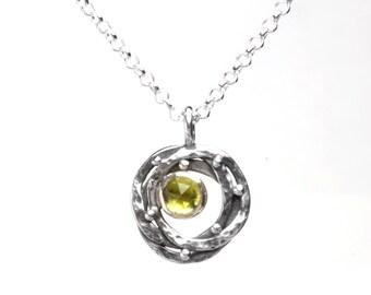 Gemstone orbit pendant