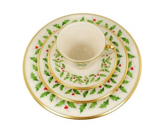 Vintage Lenox Holiday China ...  sc 1 st  Etsy & Christmas china | Etsy
