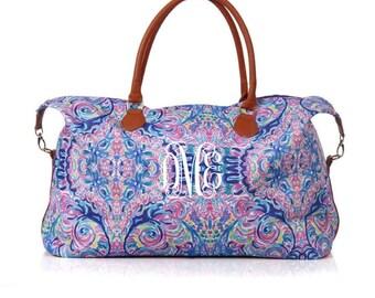 Monogrammed Weekender, Personalized Luggage, Monogram Overnight Bag, Hospital Bag, Weekender Tote, Preppy Weekender, Carry On, Travel Tote