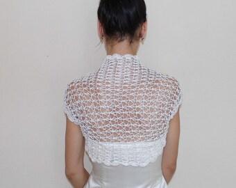 Bridal Bolero Jacket Wedding Shrug lace crochet ivory Shrugs Boleros