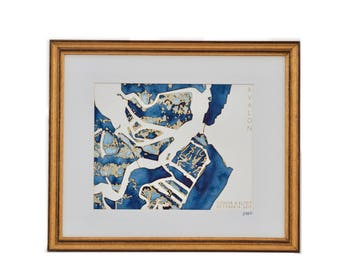 Avalon, New Jersey Topographic Watercolor Map
