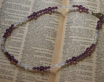 Purple & white necklace