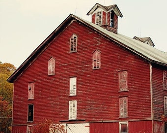 rustic red home decor, barn photography, farm decor, red wall art, old red barn, country wall art, rustic home decor The Barn no 1