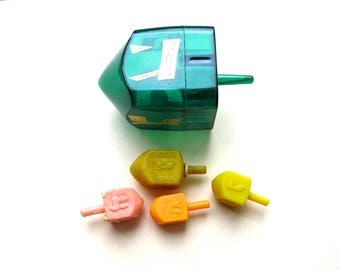 Vintage Dreidels - Hanukkah - Jewish Game - Teetotum - Vintage Tops - Vintage Toys - Hanukkah Gift
