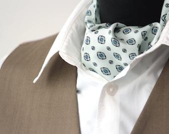 Men's Cravat Ascot Mens Tie Printed Silk Day Cravat Ascot 001 Mens Tie