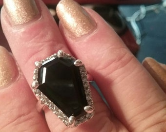 Coffin Gem - 10ct Coffin Ring - Halo Setting