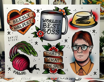 The Office Flash Sheet