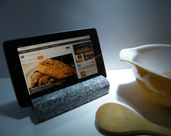 Tablet Stand, Stone iPad Stand, Recipe Tablet Holder, Recipe Holder