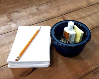 Desk pot – Pottery desk tidy, Desk organiser, Ceramic, Stoneware, Handmade, Wheel thrown