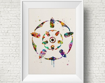 House TYRELL Colorful Watercolor Print Game Of Thrones art watercolor art Game Of Thrones print,movie poster,Game Of Thrones Illustration