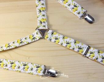 yellow lemons  suspenders