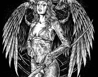 Grey Dark angel T-shirt