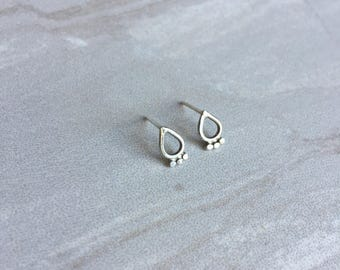 Tear Drop studs - teardrop earrings - stud earrings