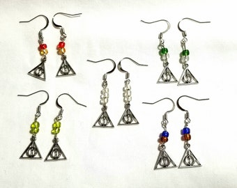 Deathly Hallows earrings inspired by Harry Potter