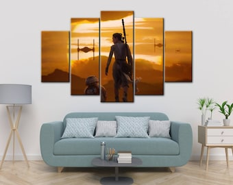 Rey canvas, The Force Awakens poster, Star wars print, Star wars canvas, The Force Awakens, Star Wars, Rey, Star Wars art, Star wars poster