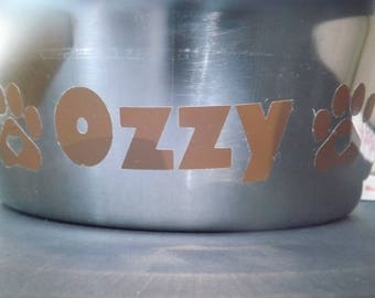 Personalized Dog / Cat bowls
