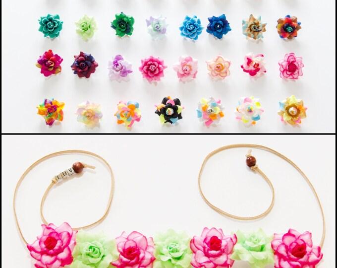 Customizable Rose Flower Crown