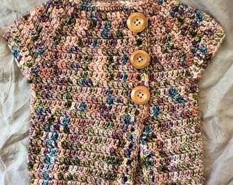 Crochet woollen vest, Sz 12 months