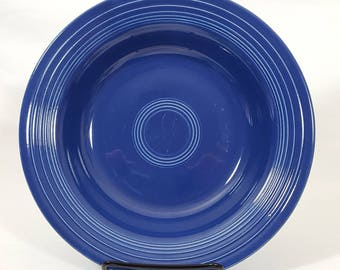 Vintage Fiesta Cobalt Deep plate
