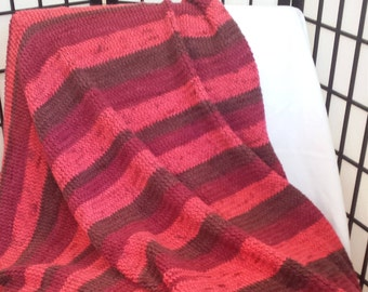 Knitted Afghan, Throw, Blanket