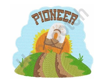 Covered Wagon - Machine Embroidery Design, Pioneer