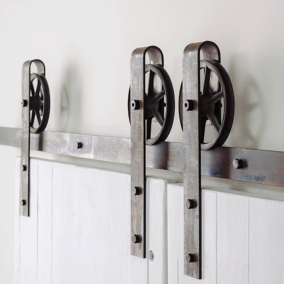 vintage rayons double porte coulissante barn door hardware. Black Bedroom Furniture Sets. Home Design Ideas