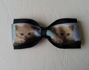 Black bow and cat hair clip ♥ ♥