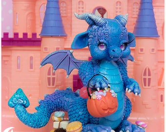 Halley   Drachenskulptur   Halloween-Drachen   Märchenhafte Wesen