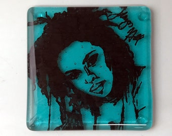 Lauryn Hill Fused Glass Coaster, Singer Coaster, Fugees Coaster, Icon Coaster