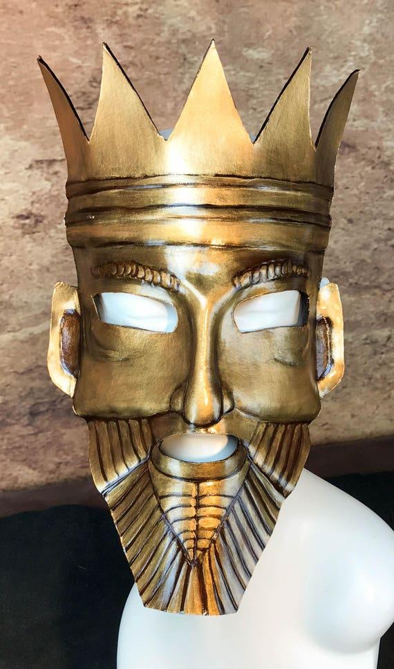 King Midas Leather Mask