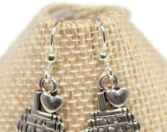 Book Earrings - Love to Read Gift - Book Jewelry - Book Club Gift - Book Club Earrings - Book Club Jewelry - Love to Read Earring Gift